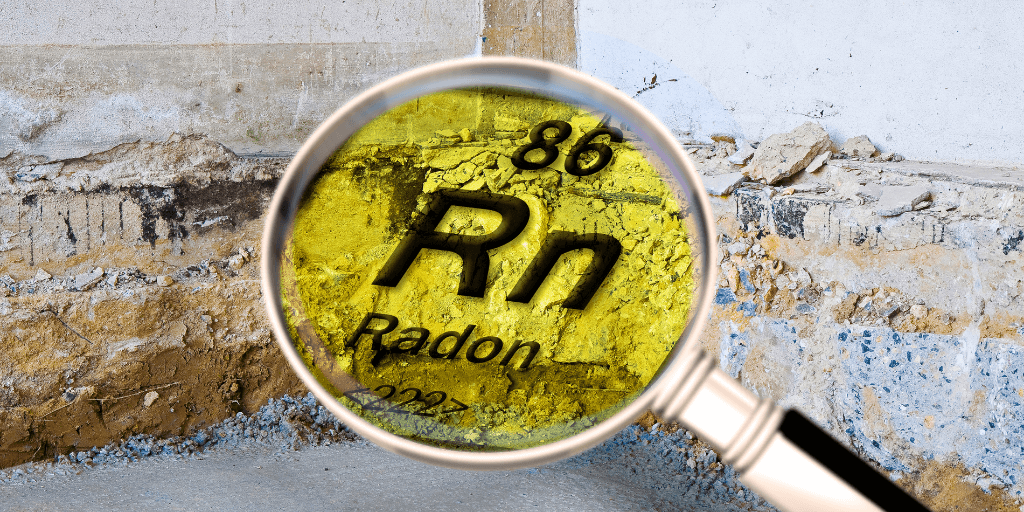 Radon contractor planning a commercial property radon test.